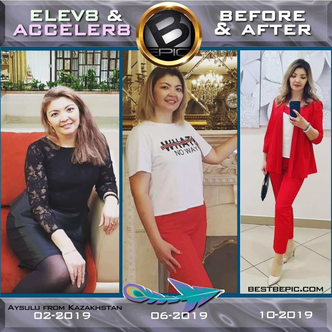 Weight loss with bepic supplements (pictures before and after)