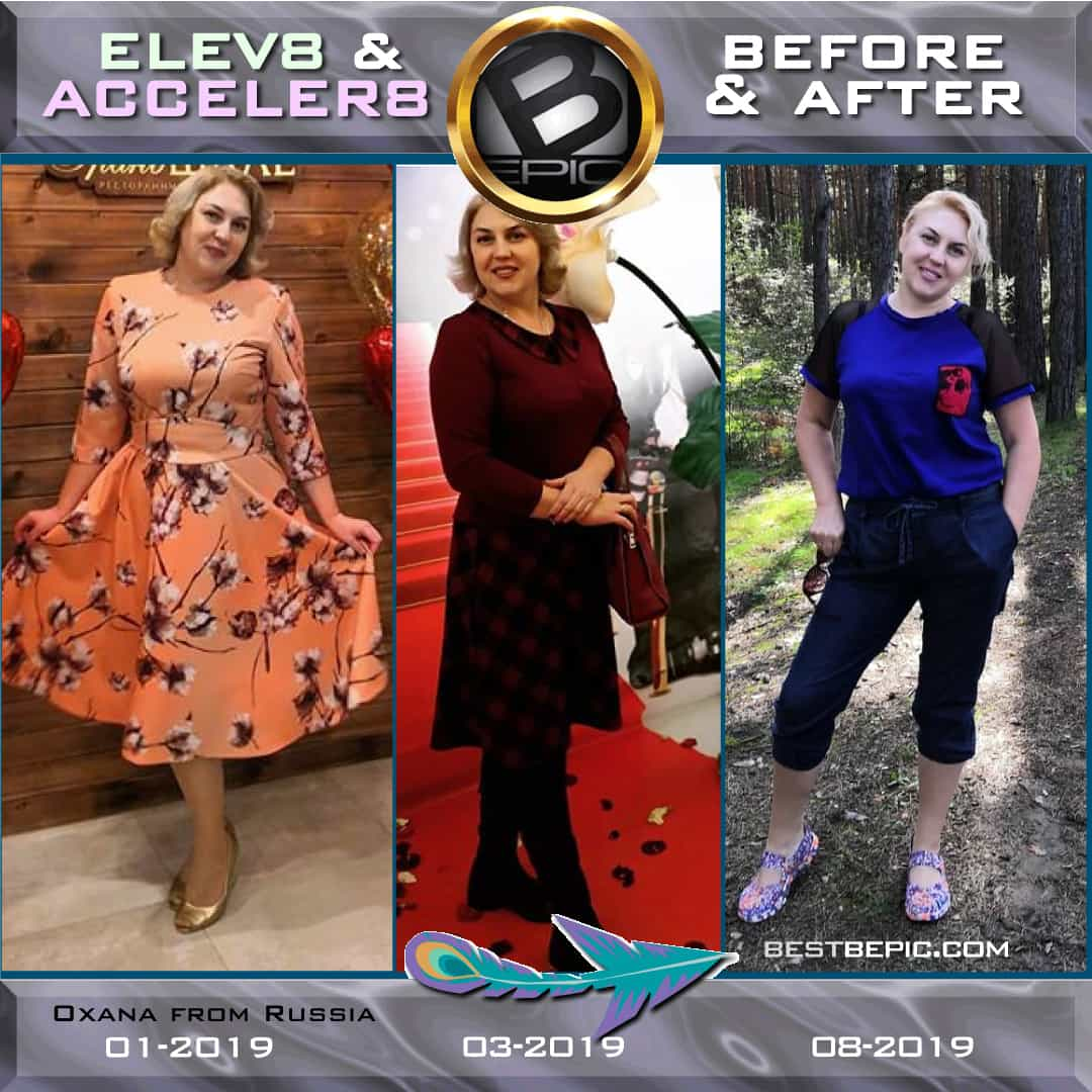 Weight loss with Elev8 & Acceler8 trio