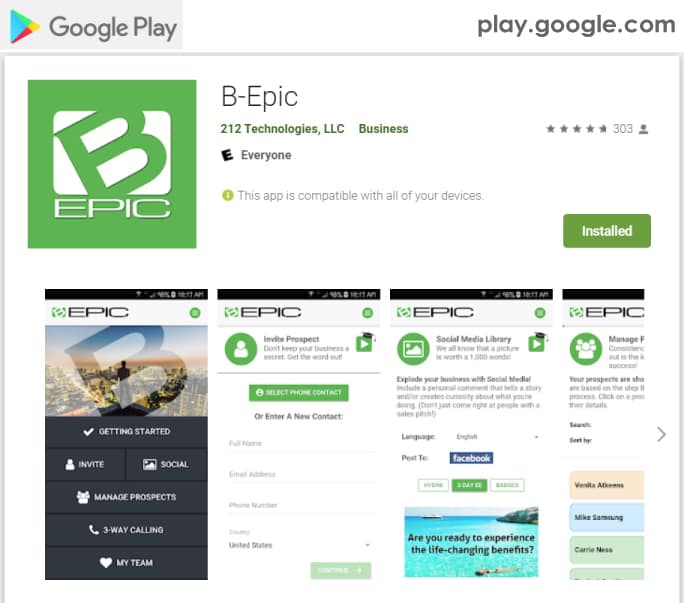 B-Epic Mobile Application