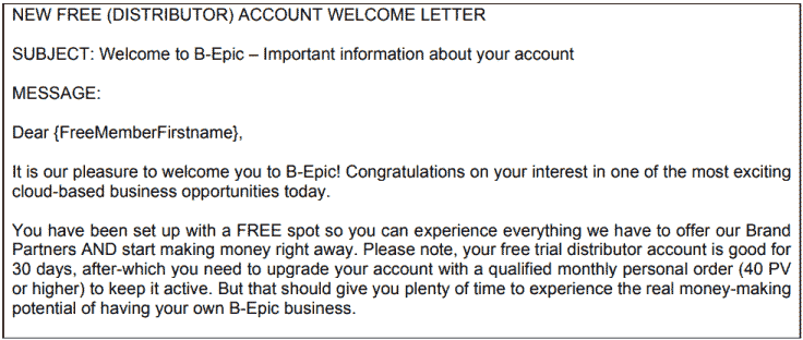 A b-Epic Letter to  New Free Member