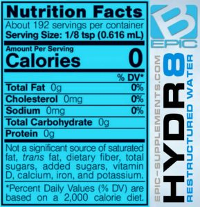 Nydr8ation supplement facts