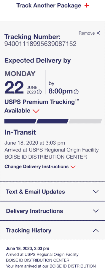 BEpic shipping & parcel tracking by usps