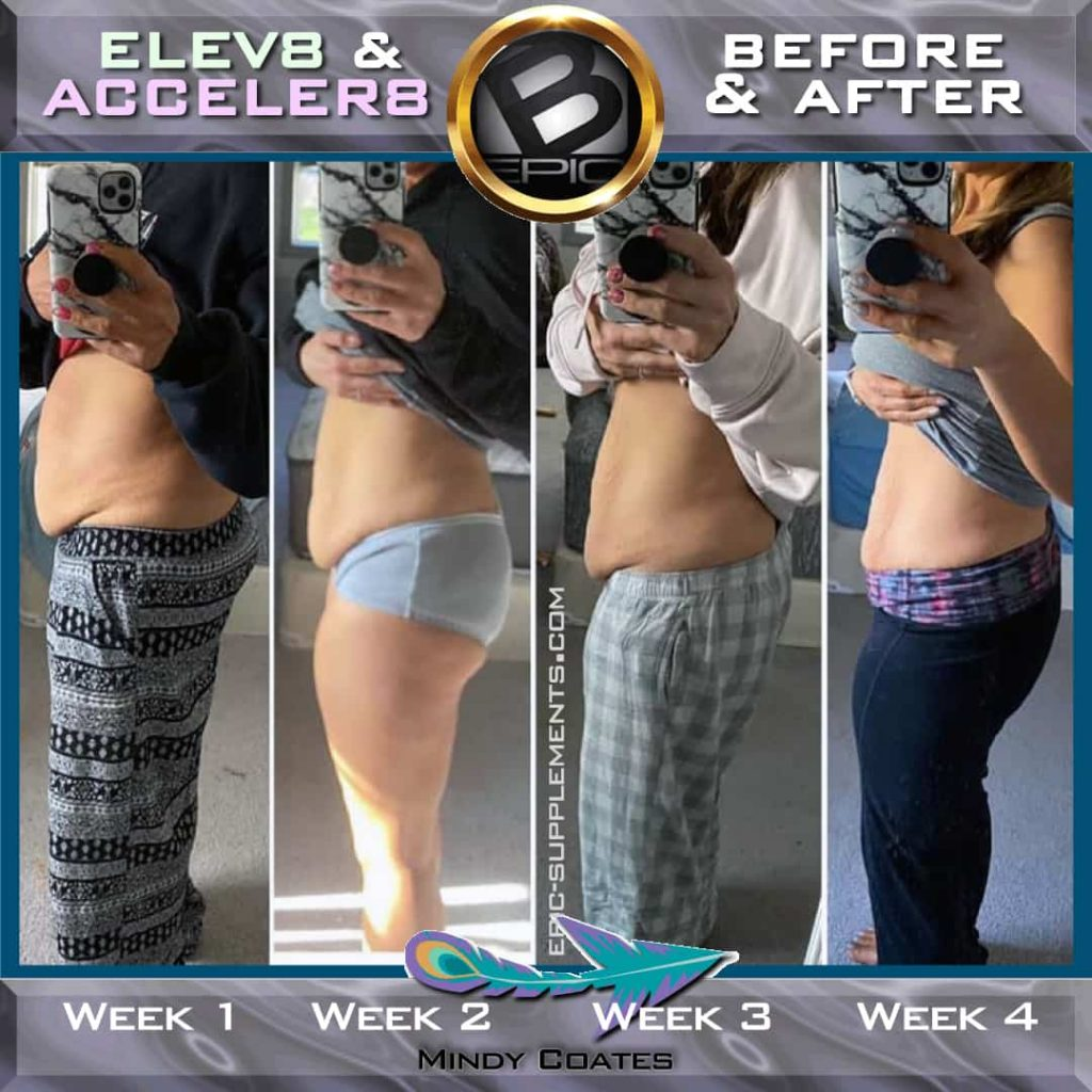 b-epic Elev8 & Acceler8 weight loss woman result