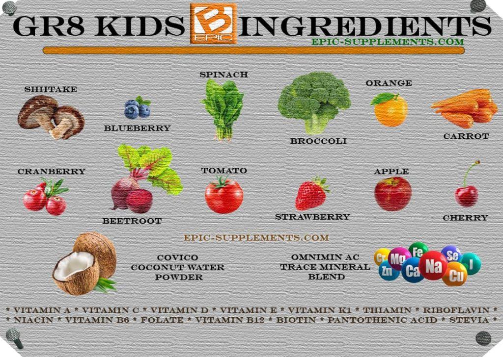 BEpic Gr8 Kids Ingredients (full list)