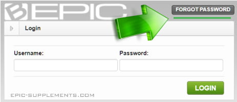 bepic site - what to do if forgot password