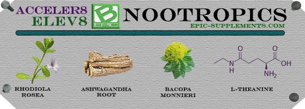 Nootropics in Elev8 & Acceler8 pills