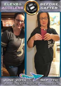 weight loss progress with b-epic's Elev8 / Acceler8 capsules