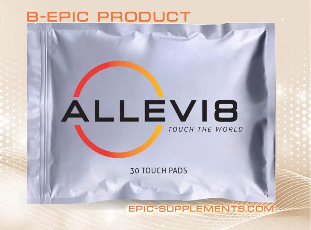 bepic's allevi8 touch pads for pain relief