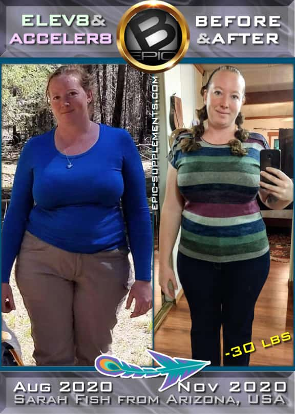 testimony from USA on Elev8 Acceler8 capsules with before and after pictures