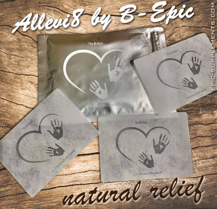 Allevi8 is pain relief Bepic patches