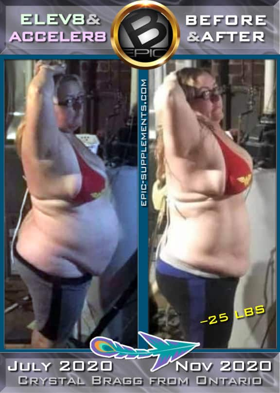 Weight loss with magic 3 bepic pills (before and after)