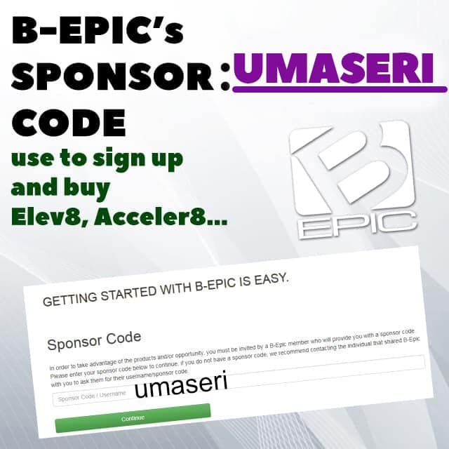 BEpic sponsor code for new partners and customers