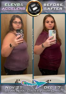 Bepic Transformation pack weight loss results from Ohio, USA