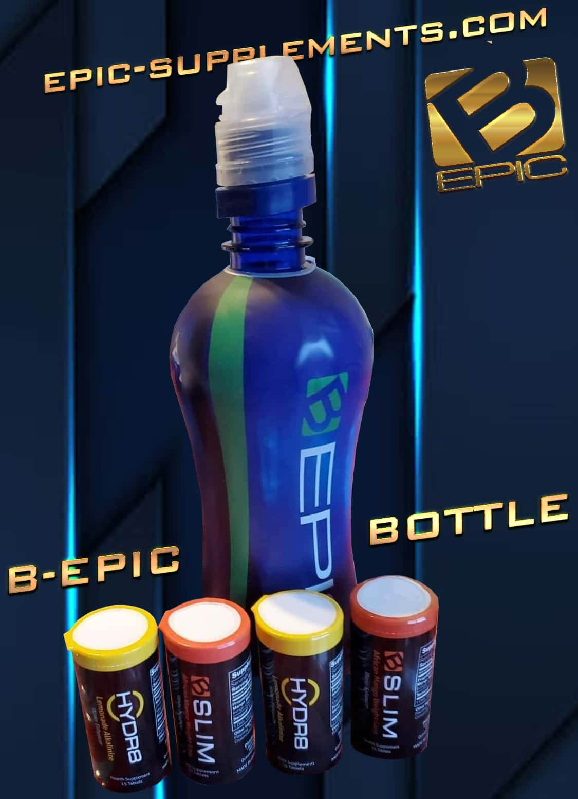 special Bepic bottle for b-slim and hydr8