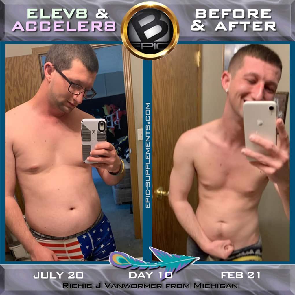 Elev8 & Acceler8 pills - man slimming result