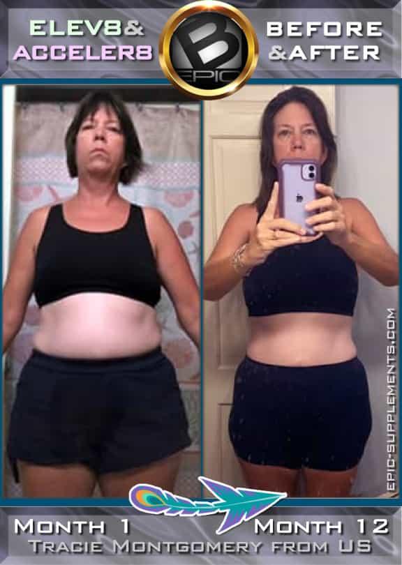 Weight Loss progress with bepic 3 pills program