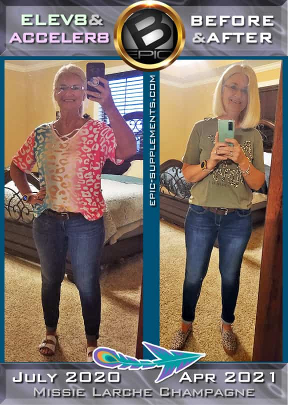 weight loss with 3 bepic pills (progress of woman from USA)
