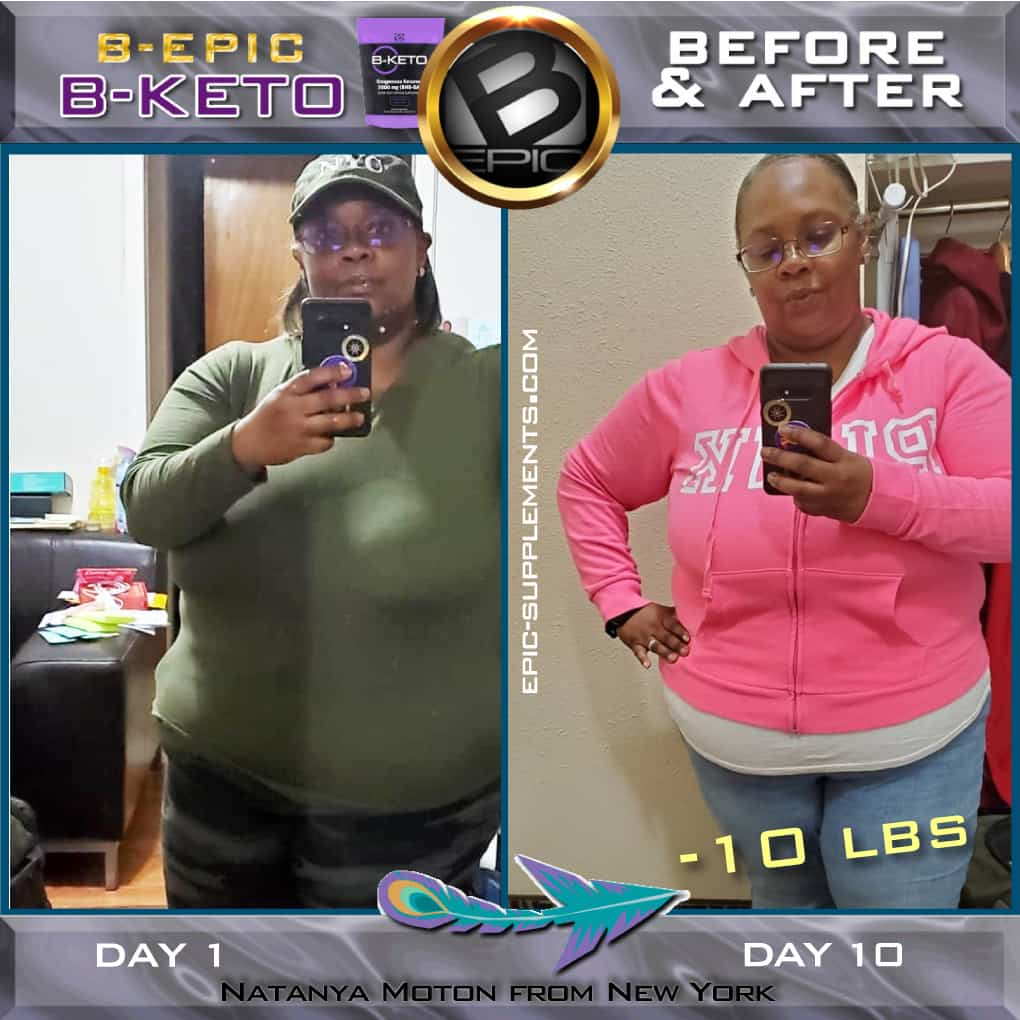 Slimming with BKeto (before & after)