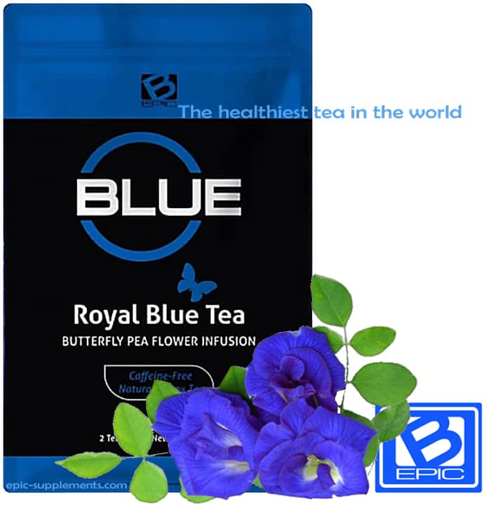 Royal blue tea drink by BEpic