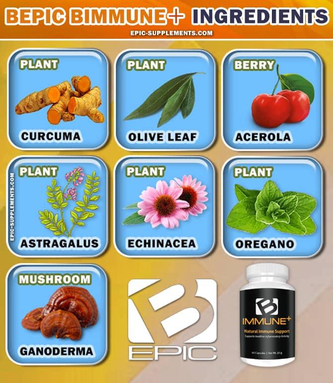 BEpic BImmune Tablets Ingredient List