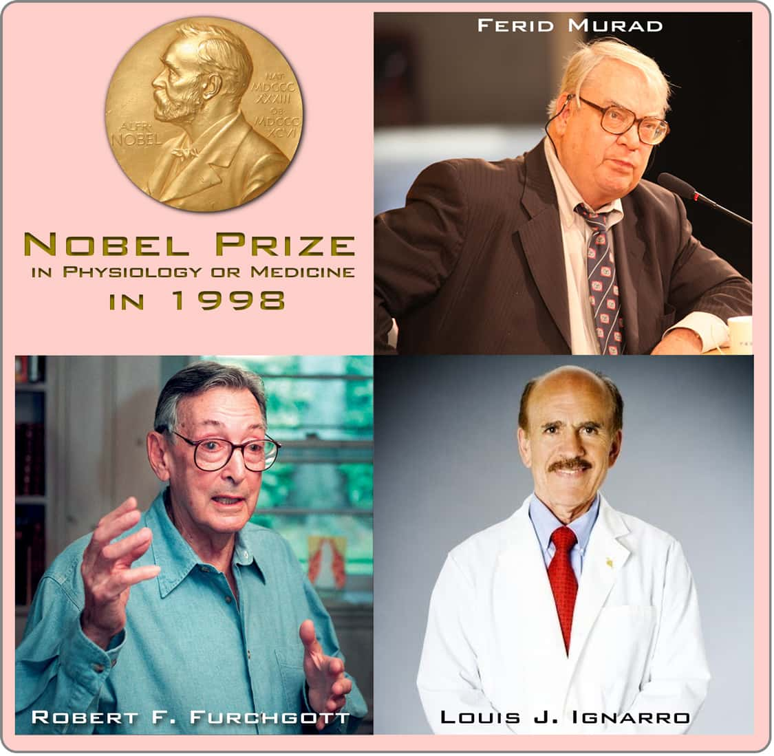 Nobel Prize winners in 1998 in Physiology or Medicine